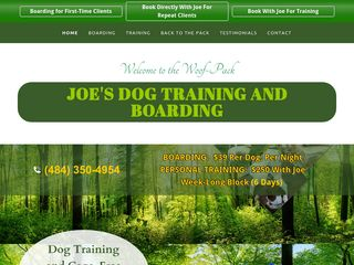 Joe's Dog Training And Boarding Alburtis