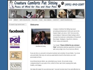 Creature Comforts Pet Sitting | Boarding