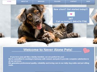 Never Alone Pets | Boarding