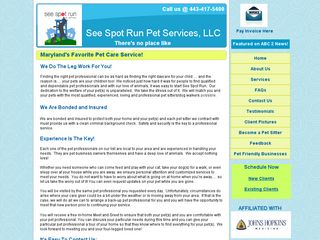 See Spot Run Pet Services Baltimore