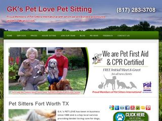 GKs Pet Love Pet Sitting | Boarding