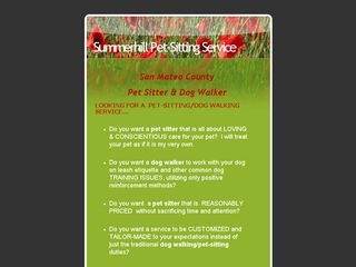 Summerhill Pet Sitting Service Belmont