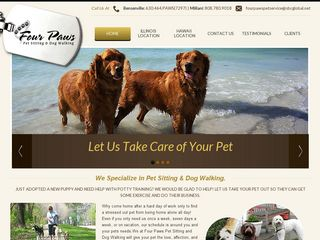 Four Paws Pet Sitting  Dog Walking | Boarding