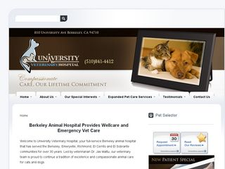 University Veterinary Hospital | Boarding