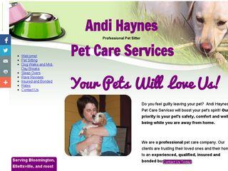 Andi Haynes Pet Care Services | Boarding