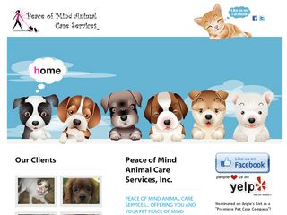 Peace of Mind Animal Care Services | Boarding