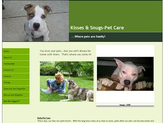 Kisses & Snugs Pet Sitting | Boarding