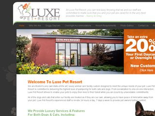 Luxe Pet Resort | Boarding
