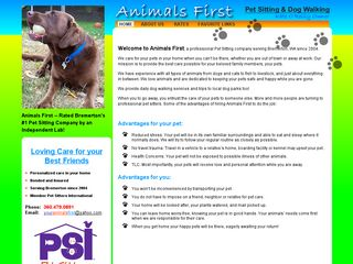 Animals First Pet Sitting Bremerton