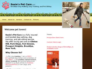 Susies Pet Care | Boarding
