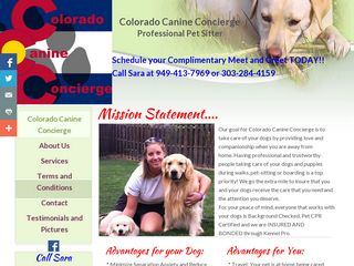 Colorado Canine Concierge | Boarding