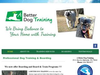 A Better Dog Training Bulverde