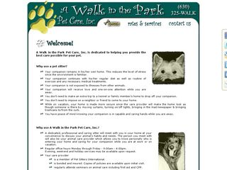 A Walk in the Park Pet Care Burr Ridge