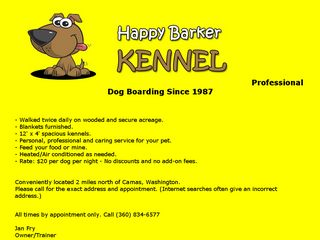 Photo of Happy Barker Kennel in Camas