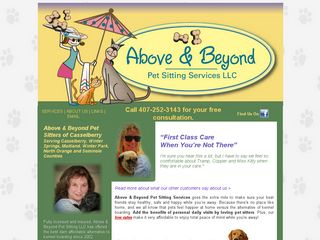 Above Beyond Pet Sitting | Boarding