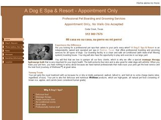 A Dog E Spa Resort Cedar Creek