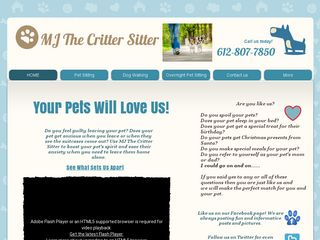 MJ The Critter Sitter Pet Sitting Centerville