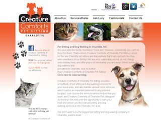 Creature Comforts of Charlotte Pet Sitting | Boarding