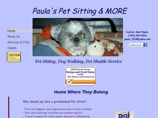 Paulas Pet Sitting  More Charlotte