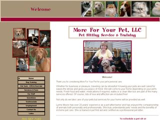 More For Your Pet | Boarding