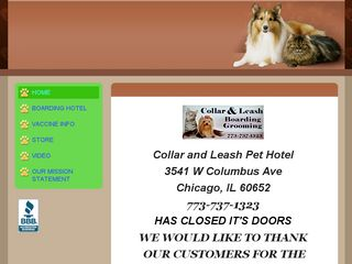 Collar   Leash Pet Motel Chicago