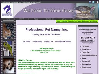 Professional Pet Nanny Inc. | Boarding