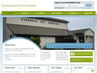 Evendale Blue Ash Pet Hospital Cincinnati