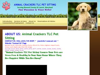 Animal Crackers TLC Pet Sitting Clarksville