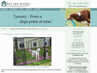 Pet Spa Suites | Boarding