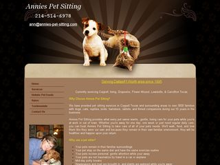 Annies Pet Sitting | Boarding