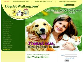 Dogs Go Walking Pet Sitting Coral Gables | Boarding