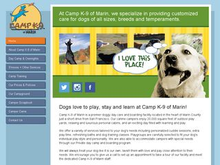 Camp K 9 of Marin | Boarding