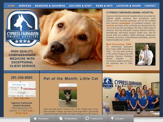 Cypress Fairhaven Animal Hospital | Boarding