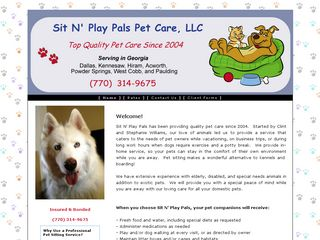 Sit N Play Pals Pet Care LLC | Boarding