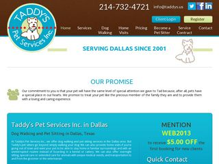 Taddys Pet Service | Boarding