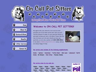 On Call Pet Sitters Dallas