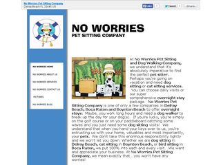 No Worries Pet Sitting Company | Boarding