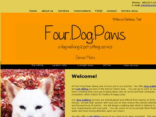 Four Dog Paws | Boarding