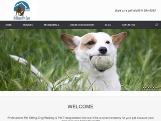 At Home Pet Care | Boarding