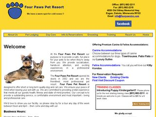 Four Paws Pet Resort | Boarding