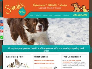 Sarah's Pet Care  Edmonds