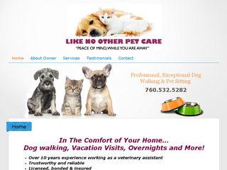 Like No Other Pet Care | Boarding