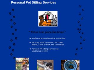 Personal Pet Sitting Service Everett