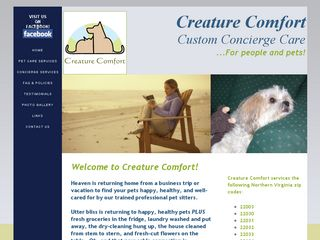 Creature Comfort Custom Concierge Care Fairfax