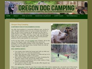 Oregon Dog Camping | Boarding