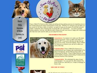 Peace Of Mind Pet Services | Boarding