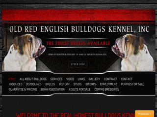 OLD RED ENGLISH BULLDOGS KENNEL Incorporated | Boarding