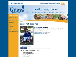 G'day Pet Care Frisco | Boarding