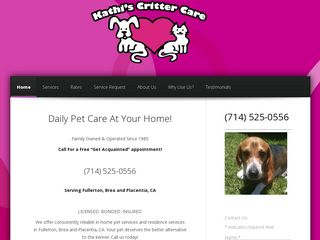 Kathis Critter Care | Boarding