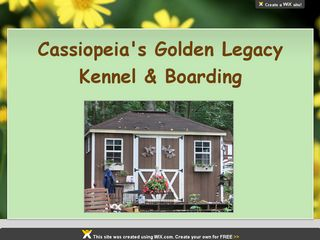 Cassiopeias Golden Legacy Kennel  Boarding Gapland